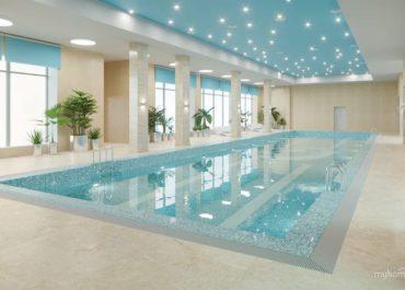 Натяжные потолки для бассейна